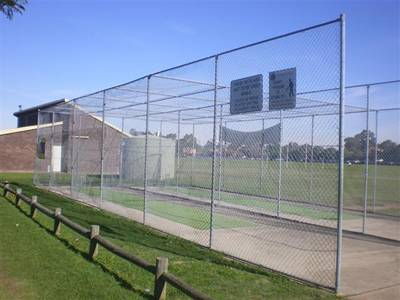 Galvanized cricket ball netting for a safe practice environment.