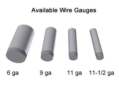 GBW chain link fence wire gauge from 6 to 12.5.