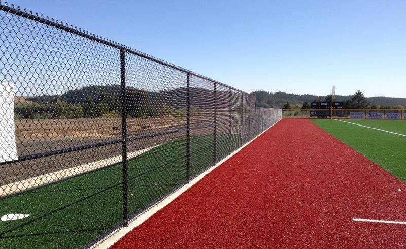 Black chain link fence for school playing fields.