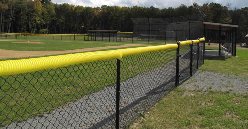 Chain Link Fences Afford Security To People And Player In