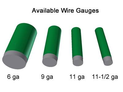 Green chain link fence wire gauge from 6 to 12.5.