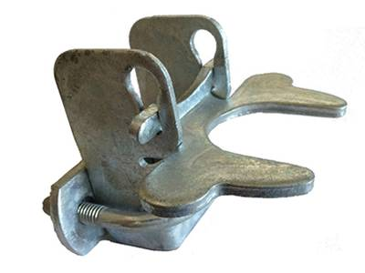 Galvanized kennel gate latch.