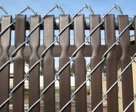 Plastic privacy slats or hedge slats adds privacy to your home.