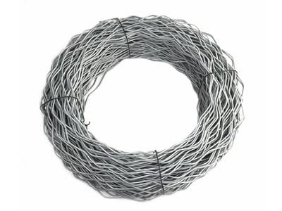 A roll of tension wire for chain link fence.